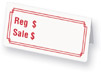 P120-B - PRE-PRINTED PROMOTIONAL TENT TAGS (159)